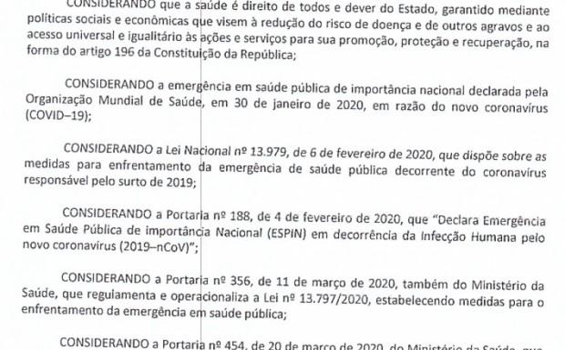 Foto de capa da notícia: Novo Decreto enrijece medidas de enfrentamento ao coronavírus