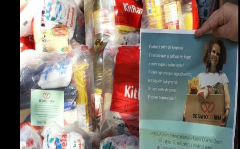 Foto de capa da notícia Lojas Quero-Quero entrega 79 cestas básicas para Bom Jesus