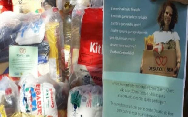 Foto de capa da notícia: Lojas Quero-Quero entrega 79 cestas básicas para Bom Jesus