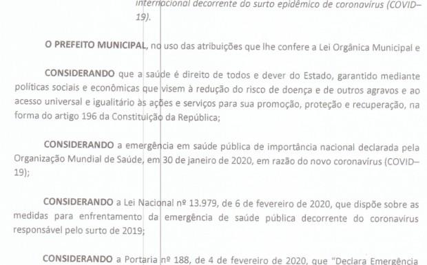 Foto de capa da notícia: Novo decreto regula enfrentamento ao coronavírus