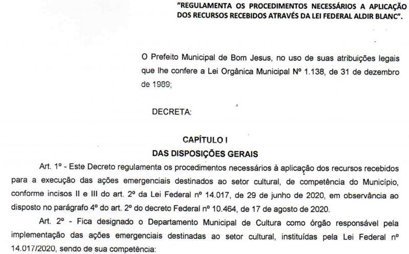 Foto de capa da notícia Prefeitura regulamentou aplicação dos recursos da Lei de Emergência Cultural Aldir Blanc