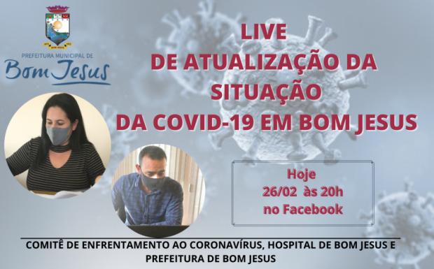 Foto de capa da notícia: LIVE DE ATUALIZAÇÃO COVID-19