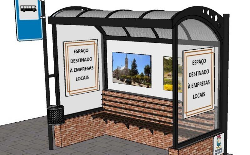 Foto de capa da notícia: Definido o modelo das paradas de ônibus a serem  instaladas na cidade