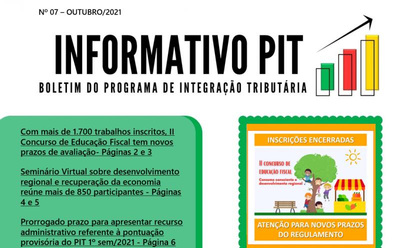 Foto de capa da notícia: Divulgada mais uma edição do informativo do Programa de Integração Tributária