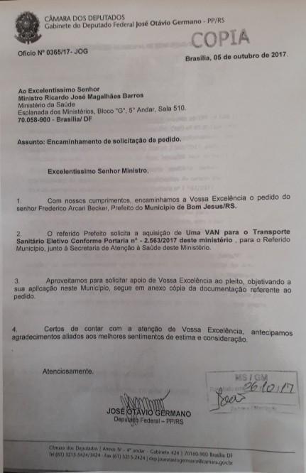 Foto de capa da notícia Município recebe recursos por transferência voluntária e emendas parlamentares