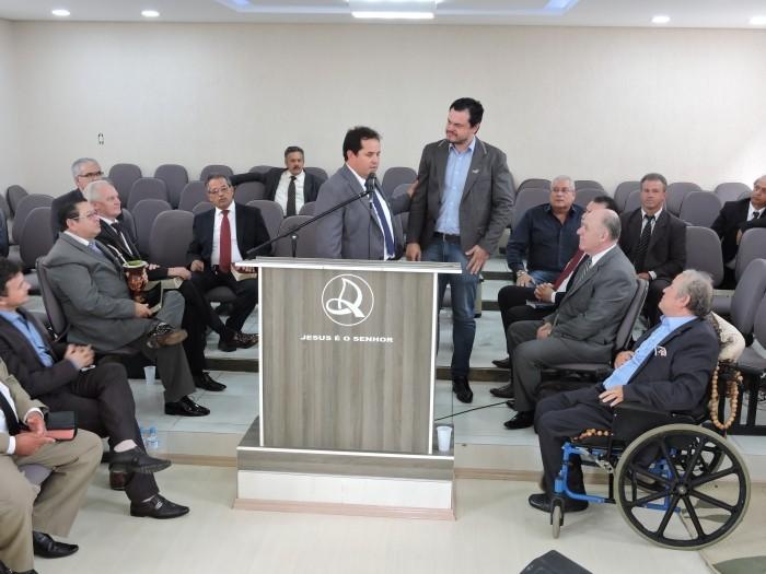 Foto de capa da notícia Pastores da Assembleia de Deus reunidos em Bom Jesus