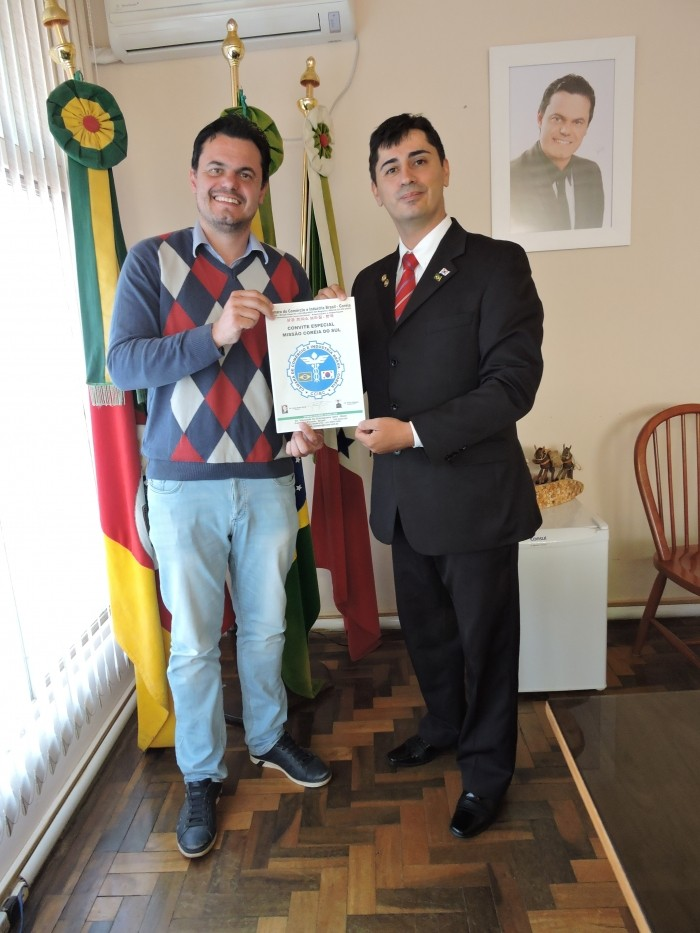 Foto de capa da notícia Prefeito recebe convite para Missão na Coréia do Sul