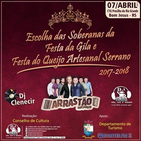 Foto de capa da notícia ESCOLHA DAS SOBERANAS DA FESTA DA GILA E FESTA DO QUEIJO ARTESANAL SERRANO