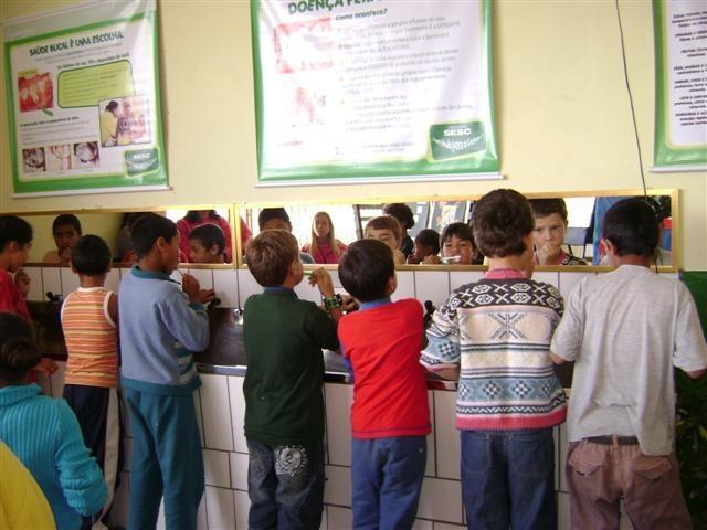 Foto de capa da notícia Projeto Sorrindo para o Futuro estimula alunos de Bom Jesus para o hábito de escovar os dentes
