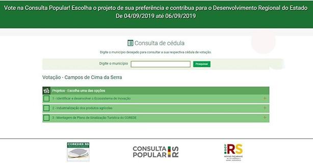 Foto de capa da notícia: Votação da Consulta Popular!
