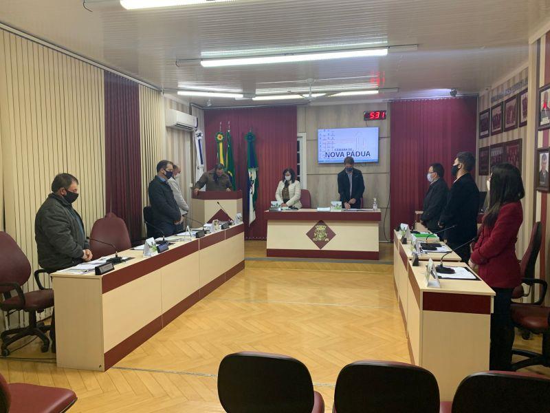 Foto de capa da notícia Vereadores aprovam importantes proposições para Nova Pádua
