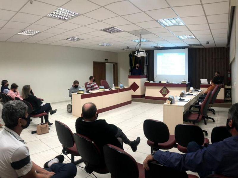 Foto de capa da notícia Câmara recebe Poder Executivo em Audiência Pública para apresentação da LDO 2022