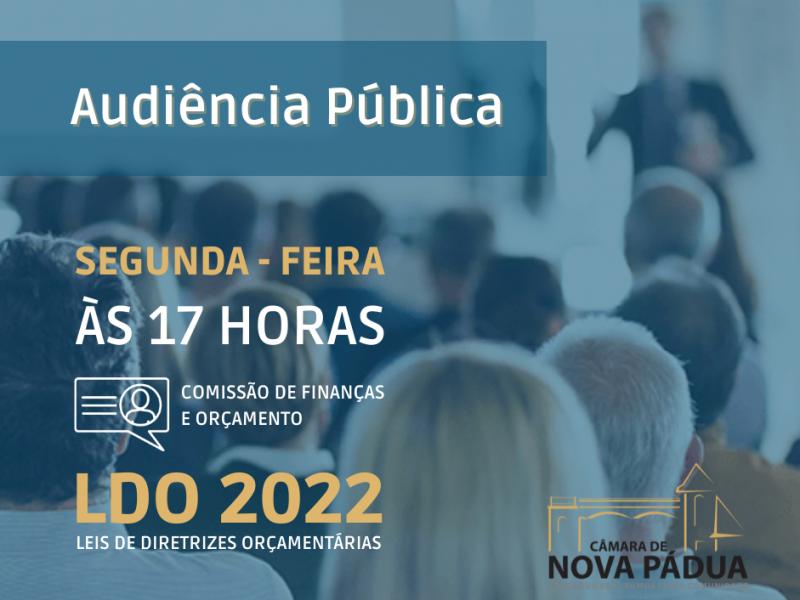 Foto de capa da notícia AUDIÊNCIA PÚBLICA: Lei de Diretrizes Orçamentárias - LDO 2022.