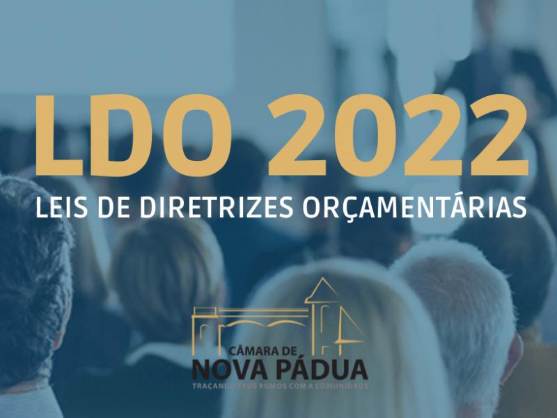 Foto de capa da notícia Câmara aprova a Lei de Diretrizes Orçamentárias para o exercício financeiro de 2022.