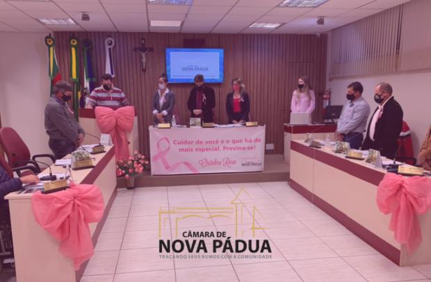 Foto de capa da notícia: Câmara realiza Sessão Ordinária destacando a importância da conscientização no Outubro Rosa.