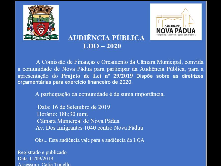 Foto de capa da notícia CONVITE - Audiência Pública