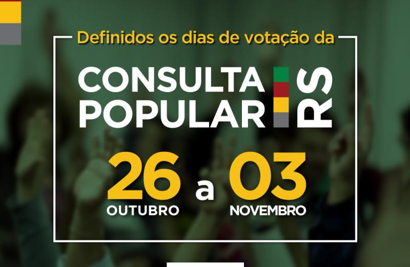 Foto Consulta Popular 2020 - Votação de 26 de outubro a 3 de novembro