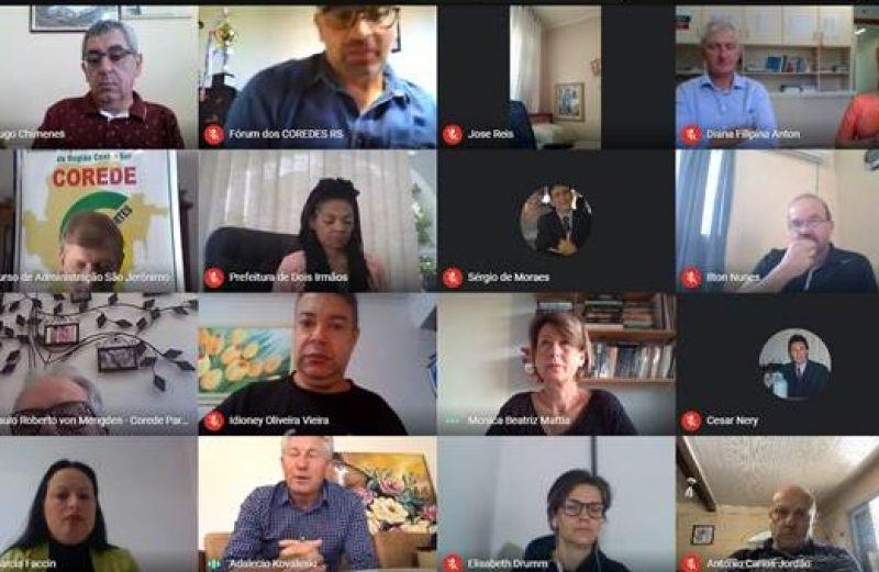 Foto Fórum dos Coredes se reúne para avaliar a Consulta Popular 2020