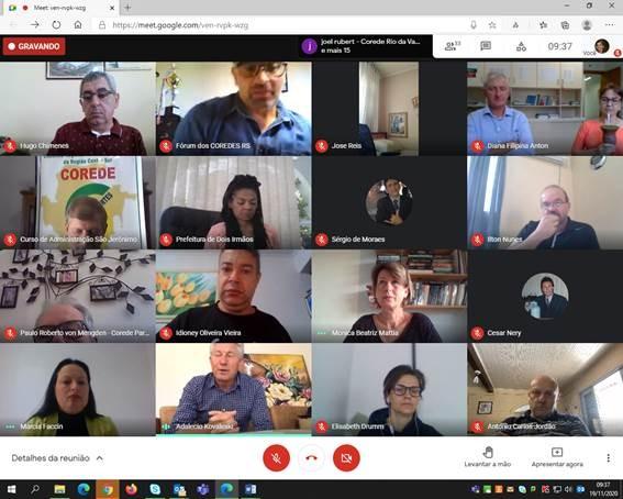 Foto de capa Fórum dos Coredes se reúne para avaliar a Consulta Popular 2020