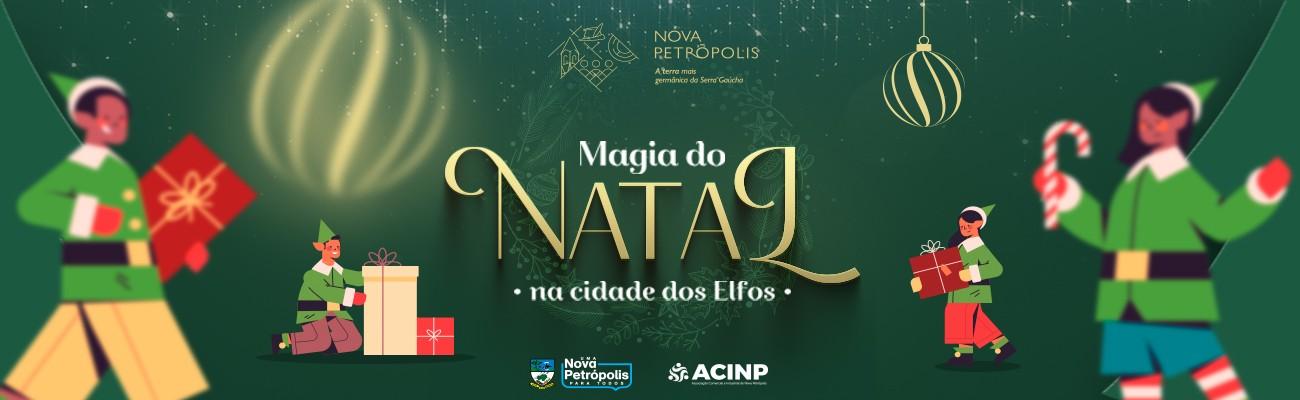 Banner divulgação Magia do Natal  na Cidade dos Elfos