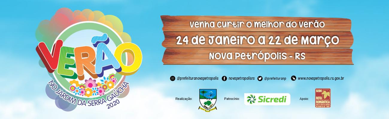 Banner divulgação Verão no Jardim da Serra Gaúcha 2020