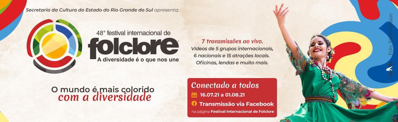 Banner divulgação 48º Festival Internacional de Folclore