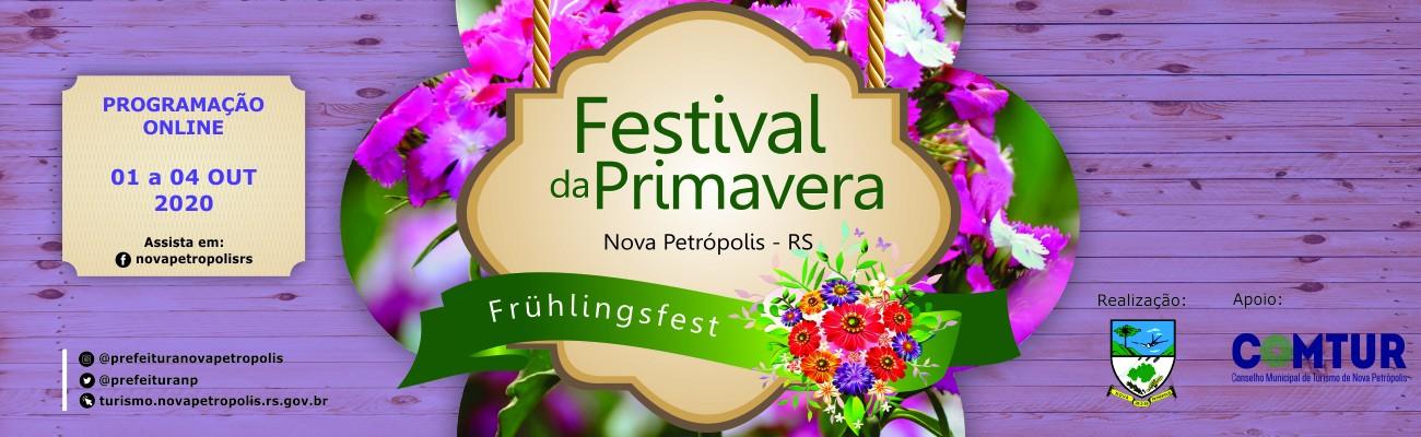 Banner divulgação 10º Festival da Primavera – Frühlingsfest