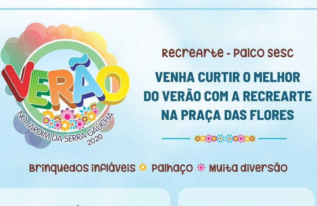 Foto Recrearte e Palco SESC são atração para a criançada no Verão no Jardim da Serra Gaúcha
