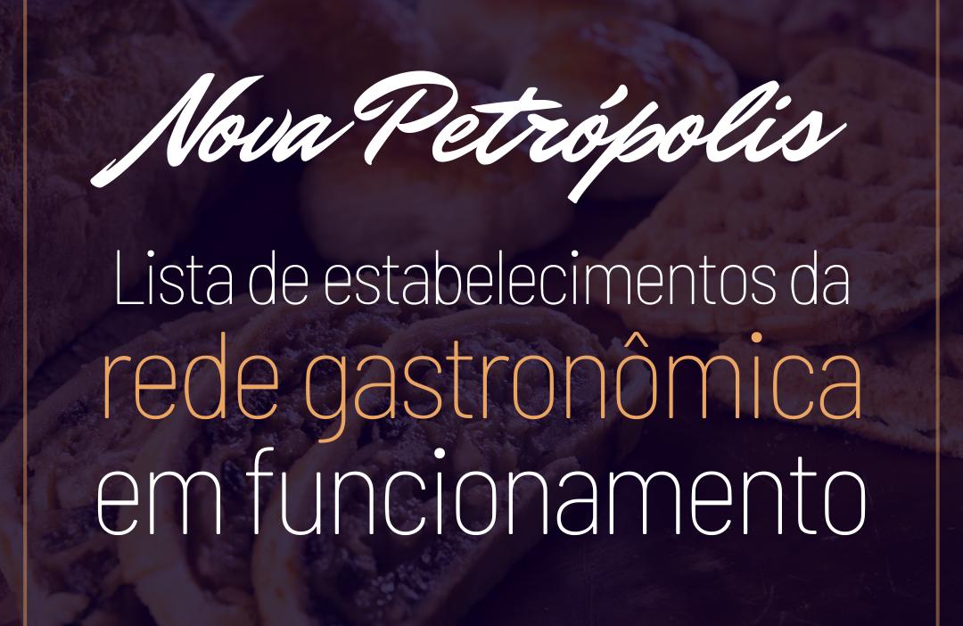 Foto Nova Petrópolis informa estabelecimentos da rede gastronômica em funcionamento