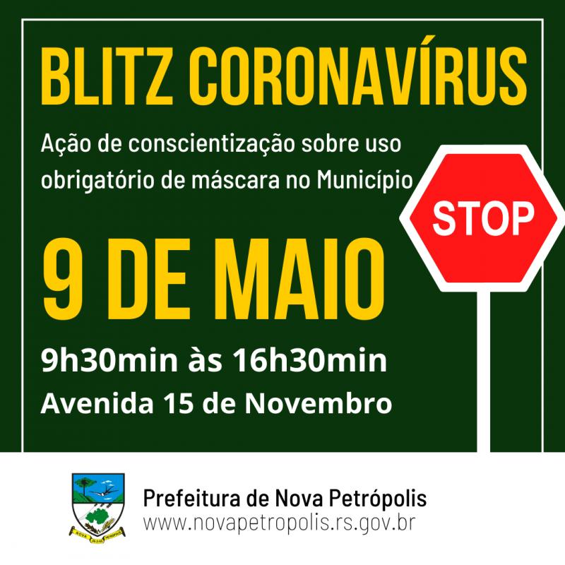 """Foto de capa Nova Petrópolis promove 2ª ação da """"Blitz Coronavírus"""" dia 9 de maio"""