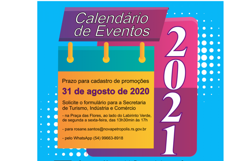 Foto Nova Petrópolis abre cadastro para Calendário de Eventos 2021