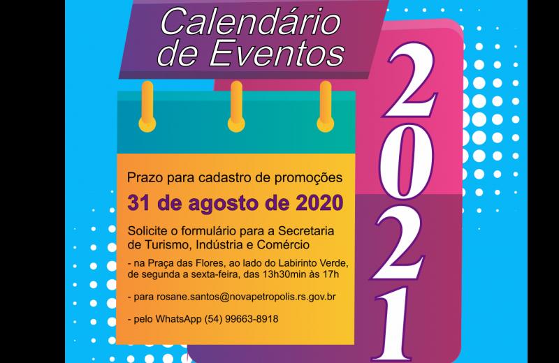 Foto Calendário de Eventos 2021: prazo para cadastrar promoções encerra dia 31 de agosto