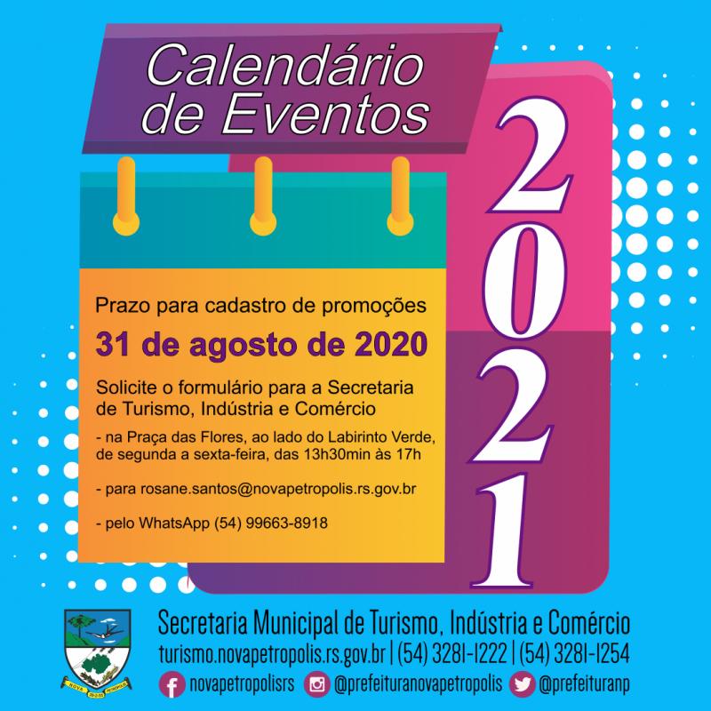 Foto de capa Calendário de Eventos 2021: prazo para cadastrar promoções encerra dia 31 de agosto