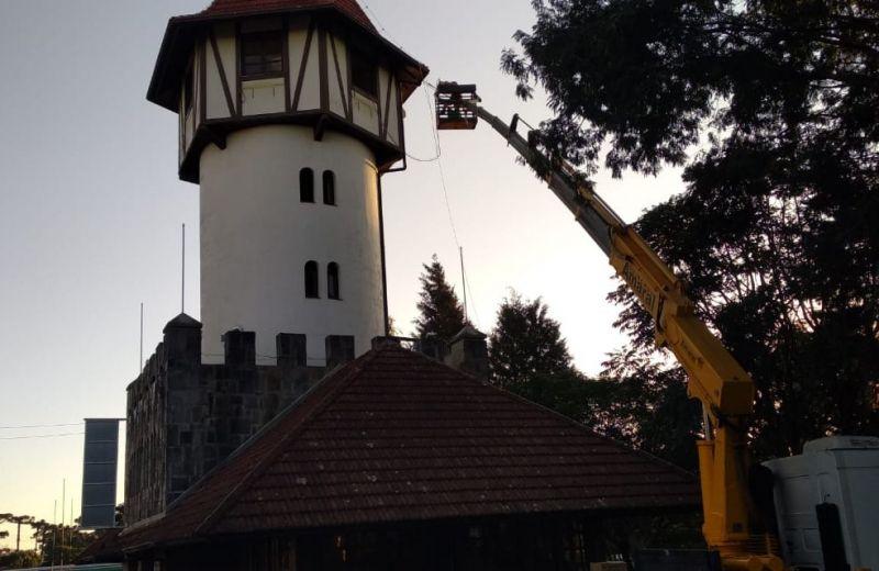 Foto Torre de Informações Turísticas de Nova Petrópolis está em obras para melhorias na estrutura
