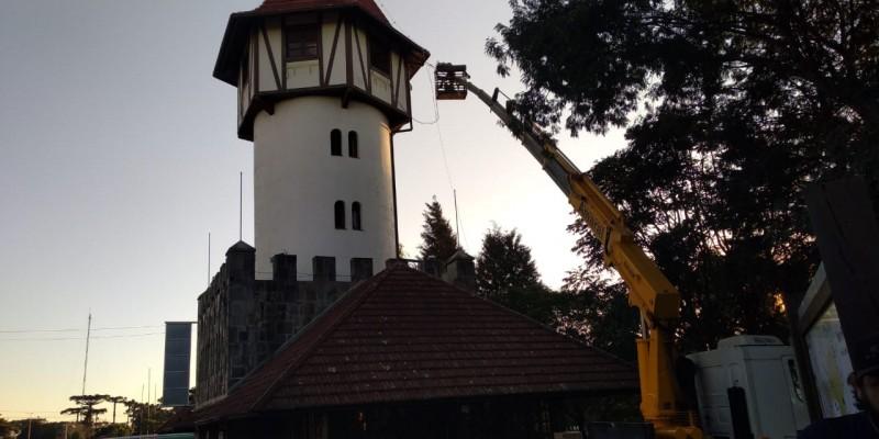 Foto de capa Torre de Informações Turísticas de Nova Petrópolis está em obras para melhorias na estrutura