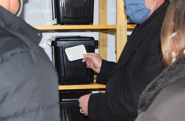 Identificação utilizada nas urnas  do ossário que ficarão devidamente lacradas - Crédito das fotos: Jordana Kiekow | Comunicação PMNP