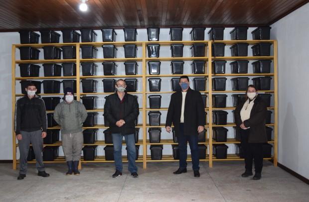 Ossário instalado em uma das salas da capela mortuária do Cemitério Parque Vale da Esperança - Crédito das fotos: Jordana Kiekow | Comunicação PMNP