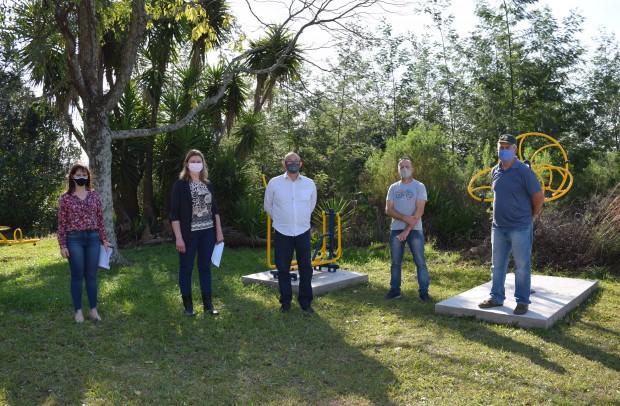 Academia de saúde ao ar livre na localidade de São Jacó - Crédito das fotos: Jordana Kiekow | Comunicação PMNP