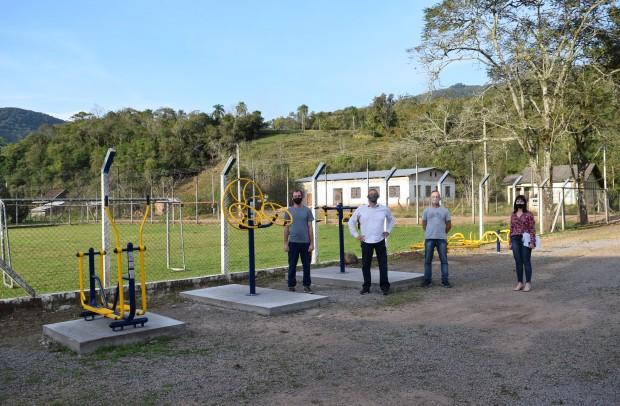 Academia de saúde ao ar livre na localidade de São José do Caí - Crédito das fotos: Jordana Kiekow | Comunicação PMNP