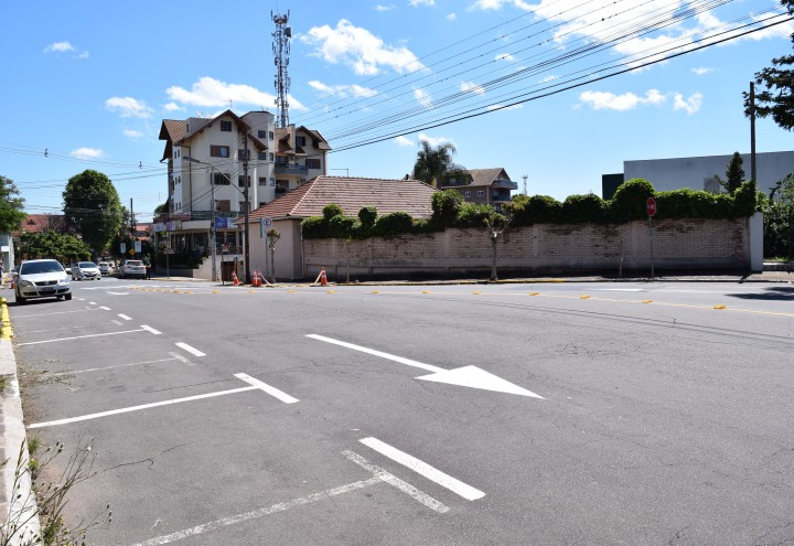 Rua Cel. Alfredo Steglich terá sentido único. CRÉDITO DA FOTO: Jordana Kiekow | Comunicação PMNP