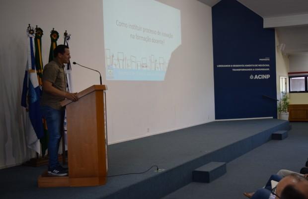 Presidente da Câmara de Vereadores de Nova Petrópolis, João Paulo de Macedo Viana, deixa sua mensagem - Crédito das fotos: Jordana Kiekow | Comunicação PMNP