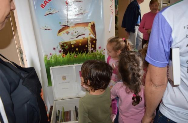 Alunos da Escola Municipal de Educação Infantil Construindo o Saber, futuros leitores da Biblioteca Pública - Crédito das fotos: Jordana Kiekow | Comunicação PMNP