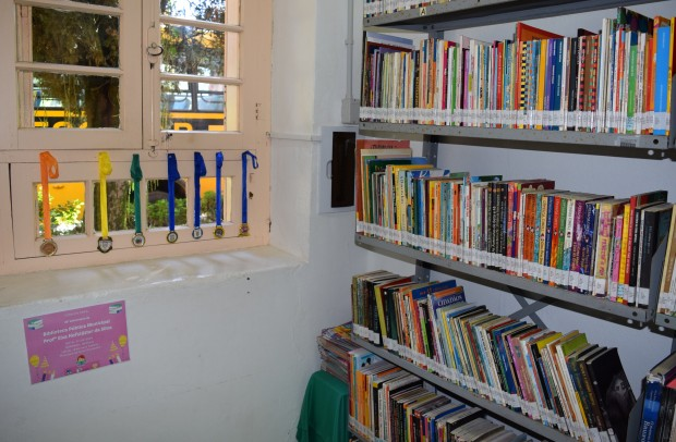 Exposição de todas as medalhas das Olimpíadas de Literatura Infantil - Crédito das fotos: Jordana Kiekow | Comunicação PMNP