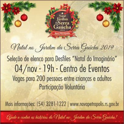 """Foto de capa da notícia: Seleção de elenco para desfile """"Natal do Imaginário"""" ocorre dia 4 de novembro"""