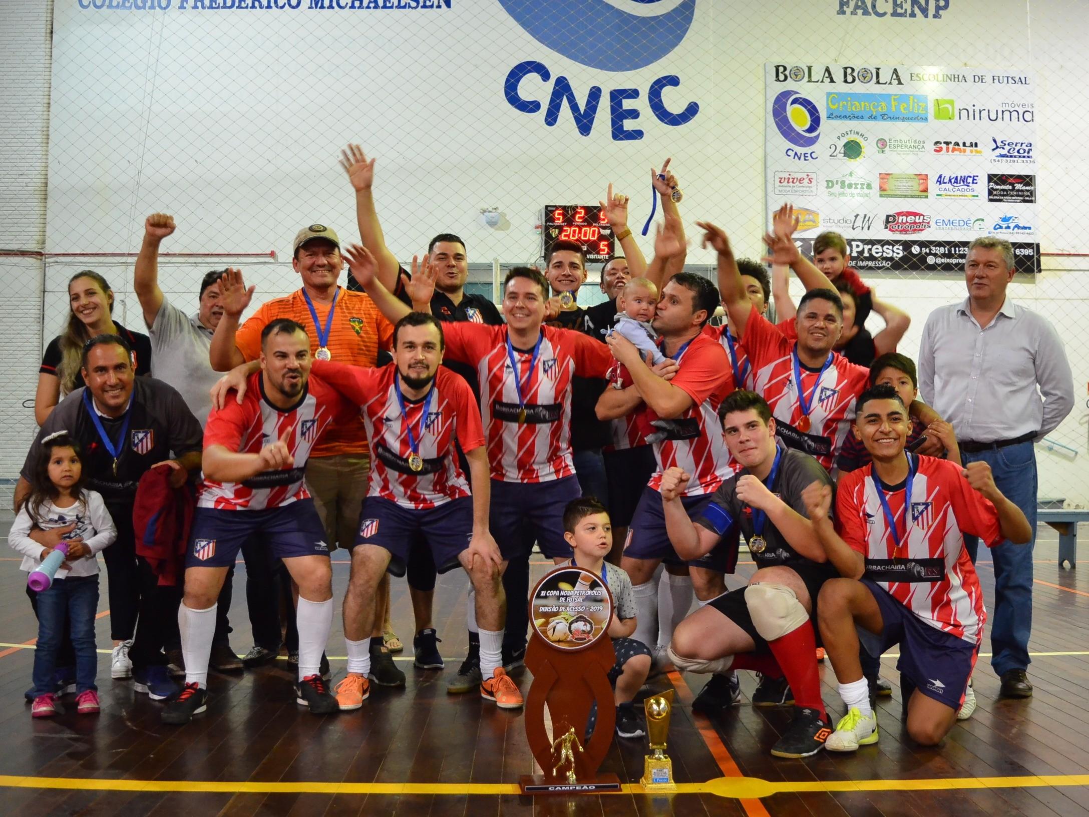 Foto de capa da notícia: Atlético Madri conquista Divisão de Acesso do Futsal Municipal