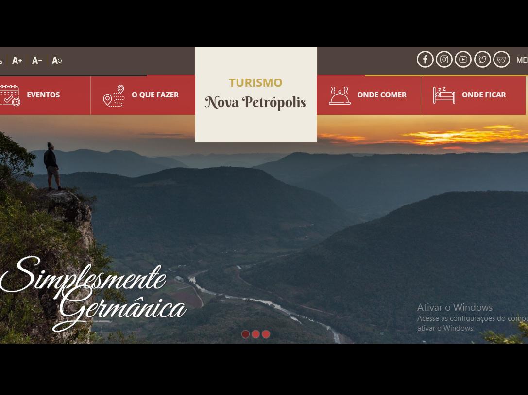 Foto de capa da notícia: Nova Petrópolis lança site específico para o turismo