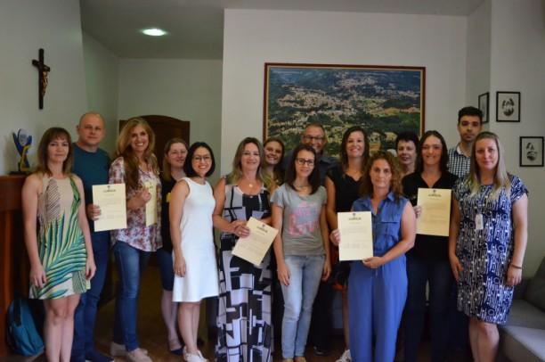 Foto de capa da notícia: Conselheiros Tutelares eleitos foram empossados no Gabinete Oficial