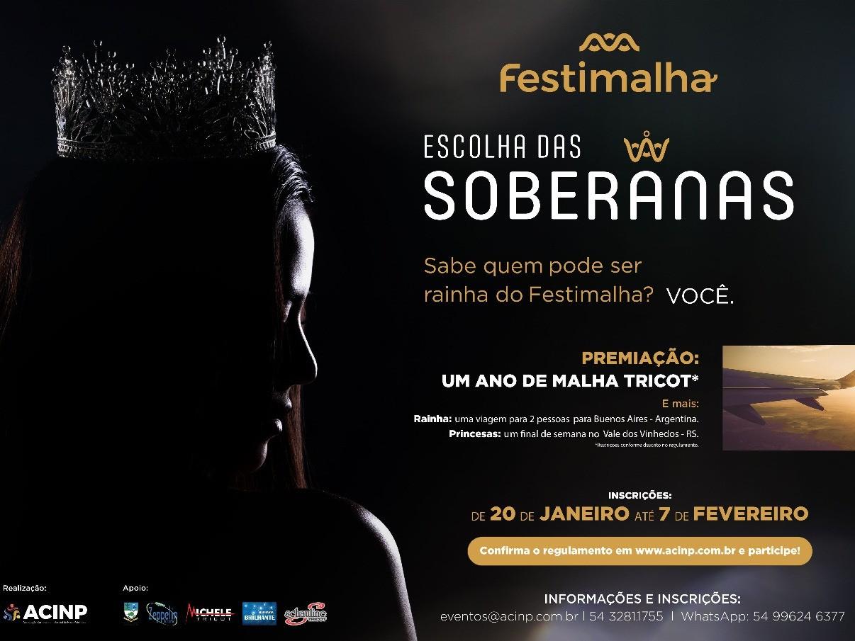 Foto de capa da notícia: Festimalha 2020 fará concurso inédito para escolha de soberanas