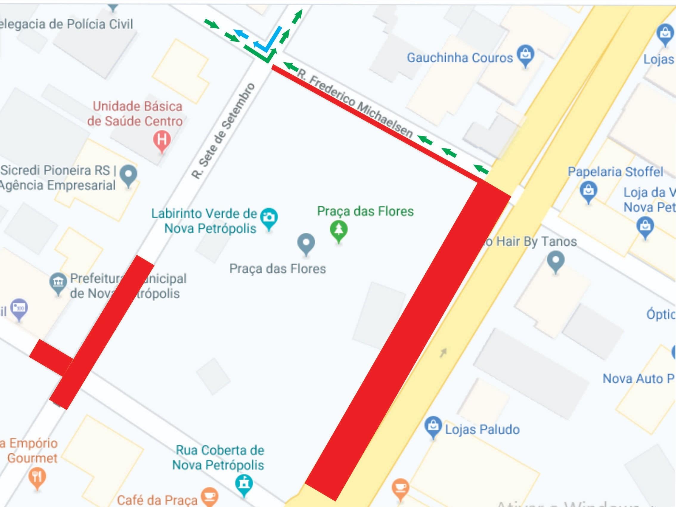 Foto de capa da notícia: Ruas no entorno da Praça das Flores sofrem alteração no trânsito no fim de semana