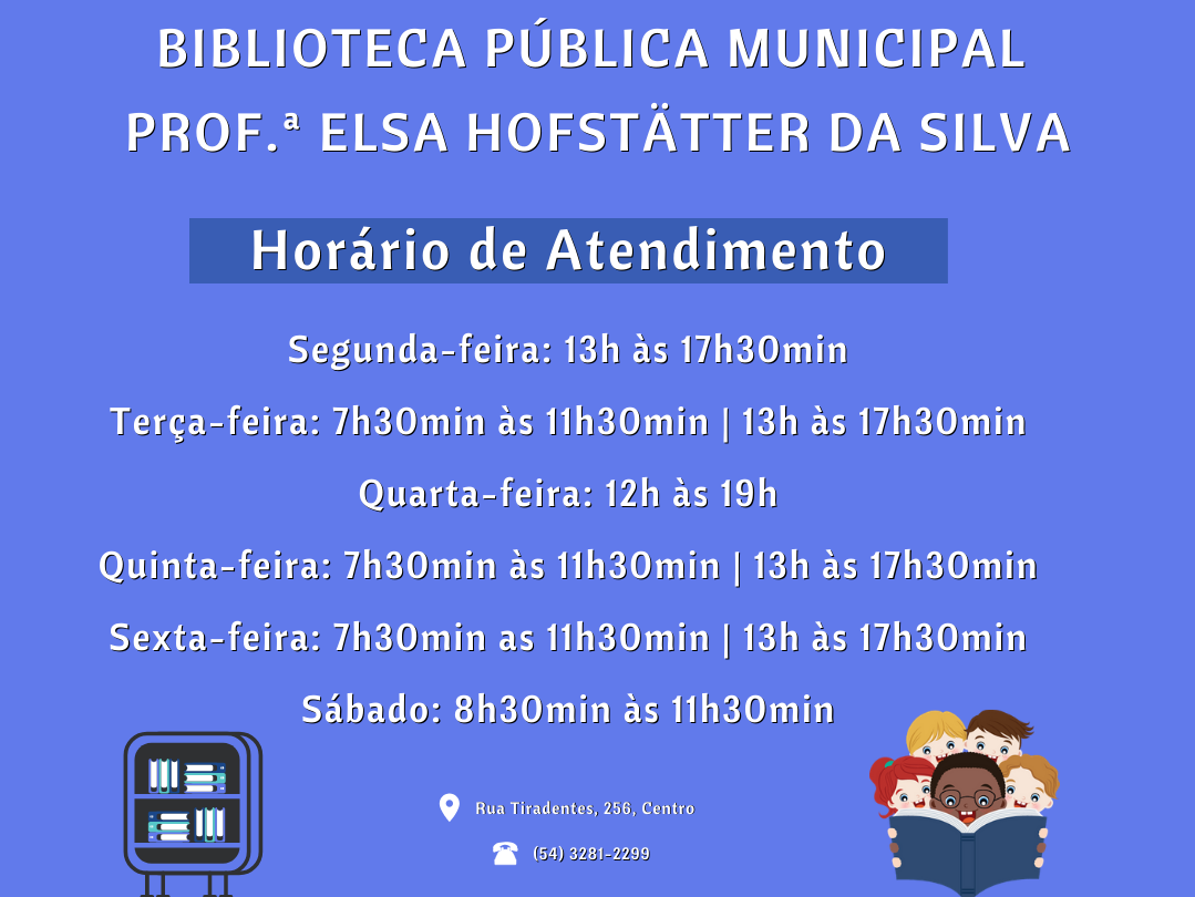 Foto de capa da notícia: Biblioteca Pública Municipal tem novo horário de atendimento